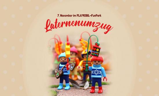 Lantern parade at the PLAYMOBIL-FunPark