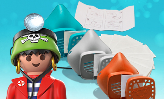 The PLAYMOBIL nose and mouth mask in the FunPark Shop